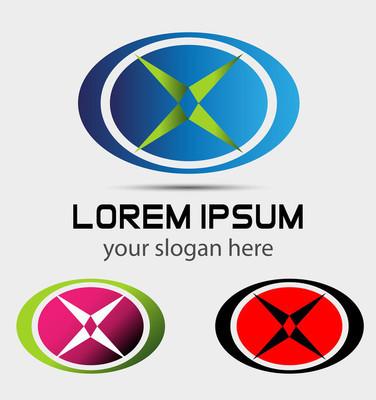 抽象形徽标公司使用在媒体,移动,科技、 金融、 机械、 科学