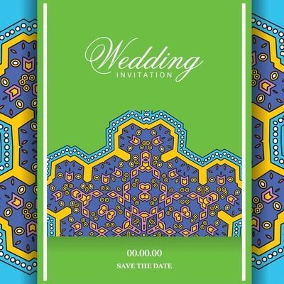 婚礼卡设计模板