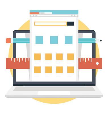 网页设计与版面平面矢量