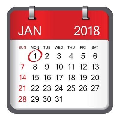 矢量图的新年日历