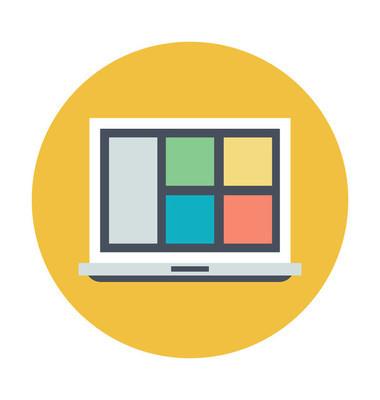 页面设计彩色矢量图标