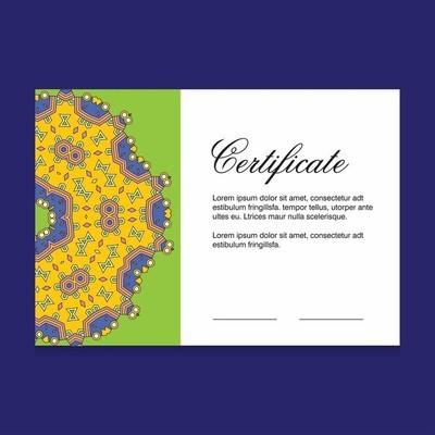 证书创意设计向量