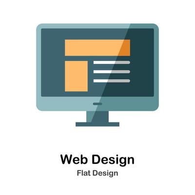 Web 设计平面图标