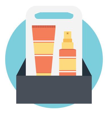 包装产品平面彩色图标