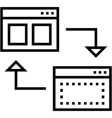 线框设计线矢量图标