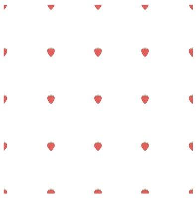 无缝背景平面设计红草莓白色的股票矢量插图