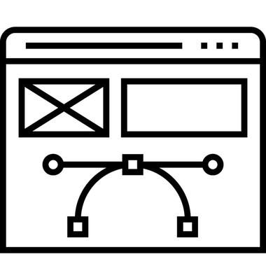 设计网页线矢量图标