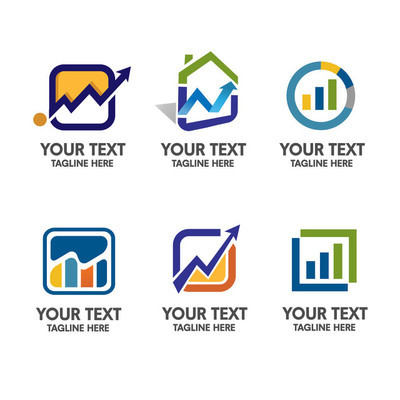 business ,accounting Corporate logo set