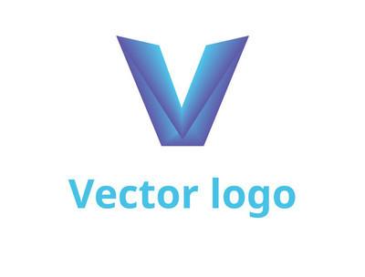 字母 V 标志设计。矢量标识