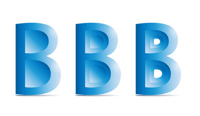 B 字符标识图标矢量,字母标志设计