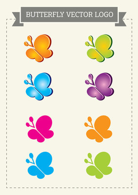 蝴蝶矢量标志