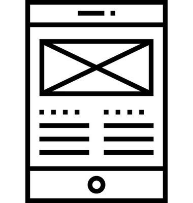 用户界面设计线矢量图标