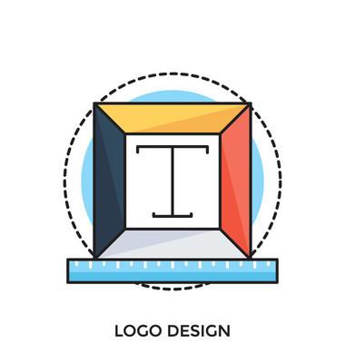 标志设计平面矢量图标