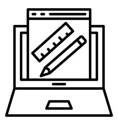 网页设计线矢量图标