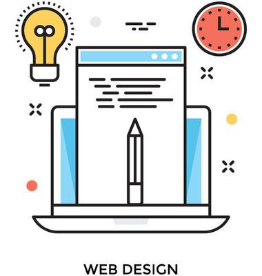 网页设计彩色矢量图标