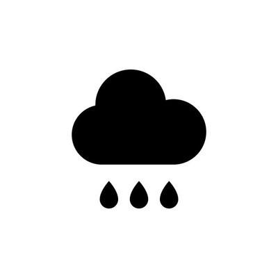 雨图标矢量图
