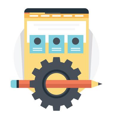 网页设计模板矢量插图
