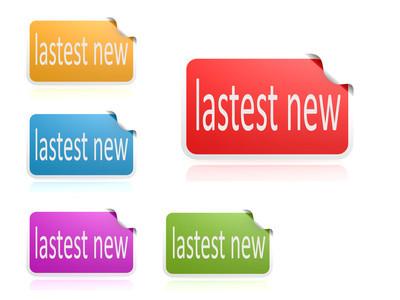 Latest news color label set