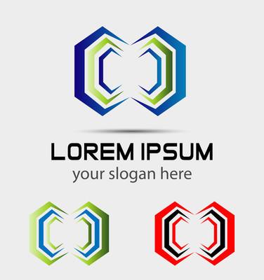 抽象 logo 模板