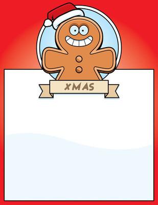 卡通姜饼人圣诞图形