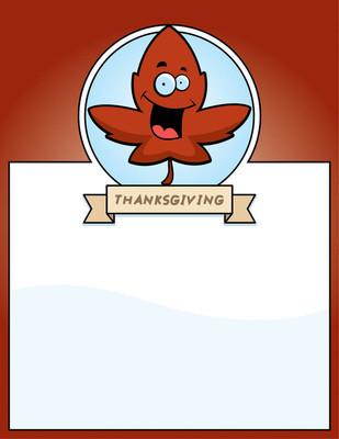 卡通叶感恩节图形