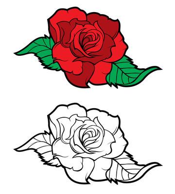 纹身的玫瑰设计元素