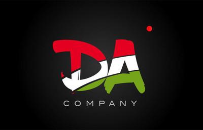 大 D A 字母字母标志组合图标字母设计