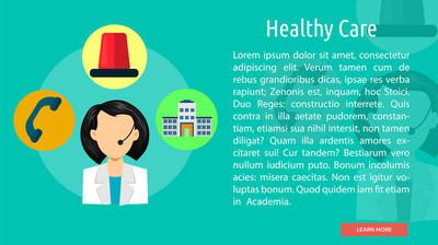 Healthy Care Conceptual Banner