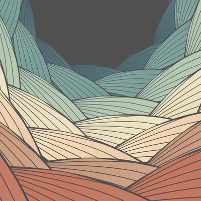 抽象的波背景-矢量图