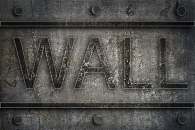 城市垃圾破解墙铭文的背景墙上