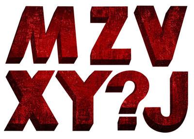 字体红色复古