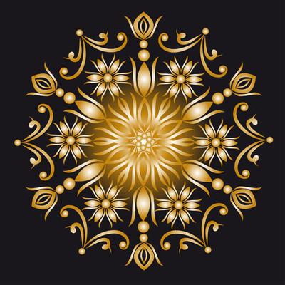 观赏的金色背景的插图