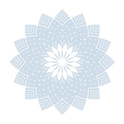 雪花图案。冬季设计元素