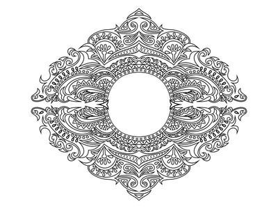 纹身的抽象线性装饰设计元素