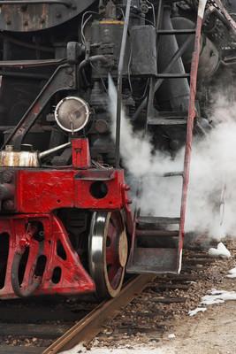吸烟蒸汽火车