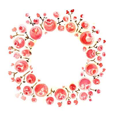红色花朵帧