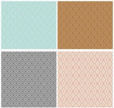 无缝的几何图案,钻石形状的集。矢量文件中包括图案色板