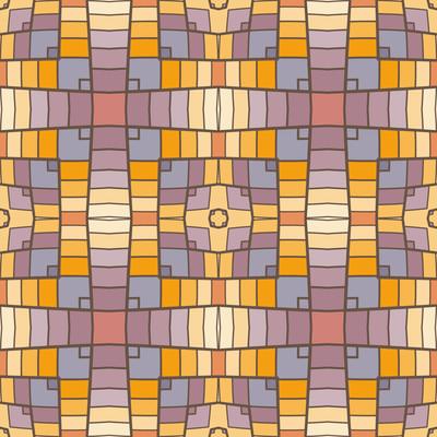 像素现代几何无缝图案