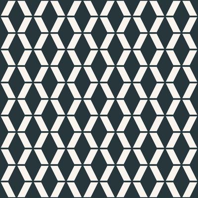 无缝的单色矢量菱形花纹