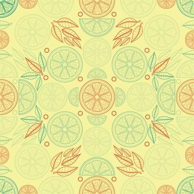 柑橘灵感无缝模式