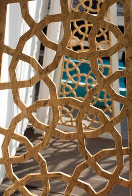 奥斯曼土耳其艺术与几何图案的木材