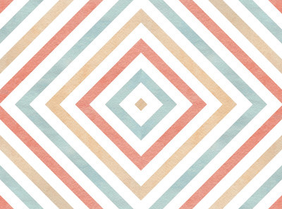 几何图案的粉色、 米色和蓝色的颜色