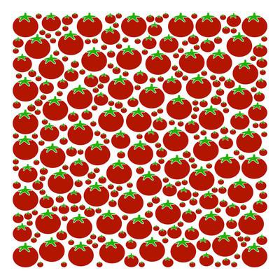 番茄填充方形拼贴