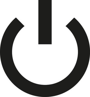 薄的电源按钮
