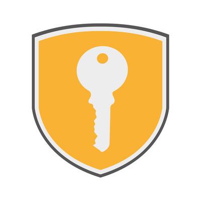 盾牌安全系统孤立的图标