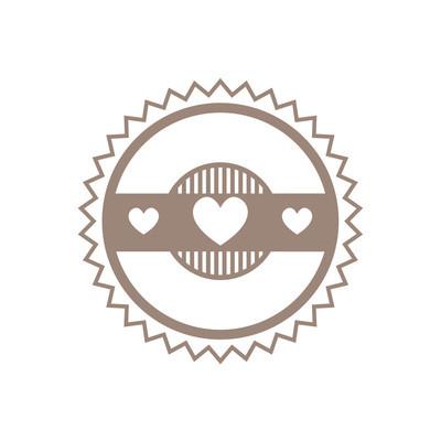 标志设计模板与心
