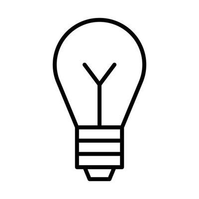 灯泡简单图标