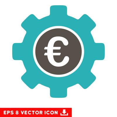 欧元发展齿轮矢量 Eps 图标