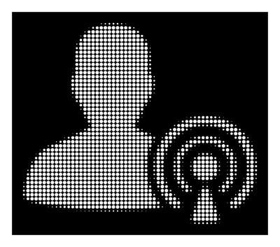 白色半色调播客创建者图标