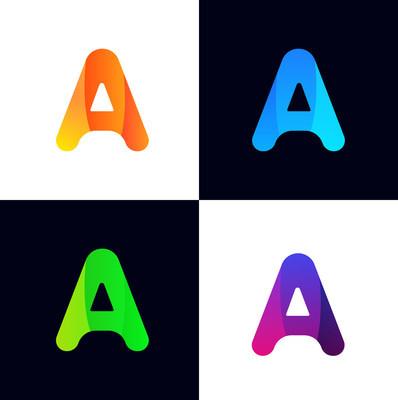 抽象字母 compaly 标志标志矢量设计